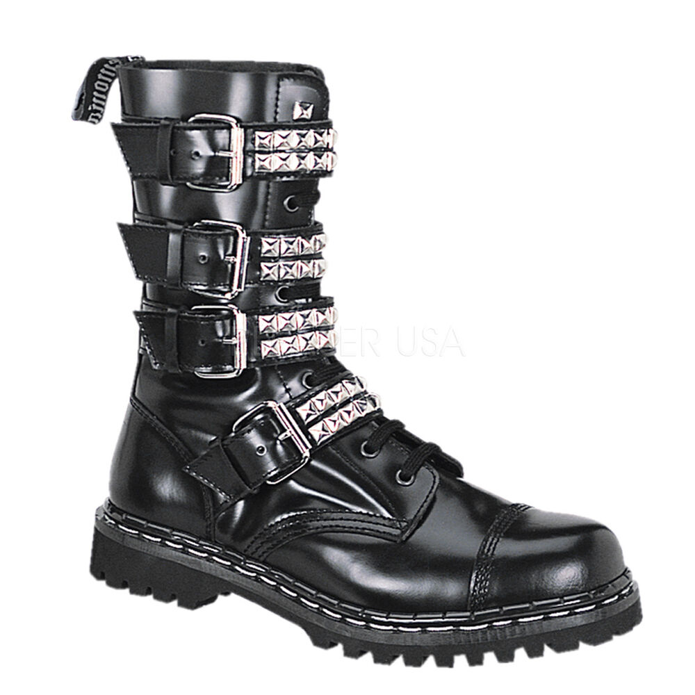 demonia gravel10s leather boots gothicgothsteampunk