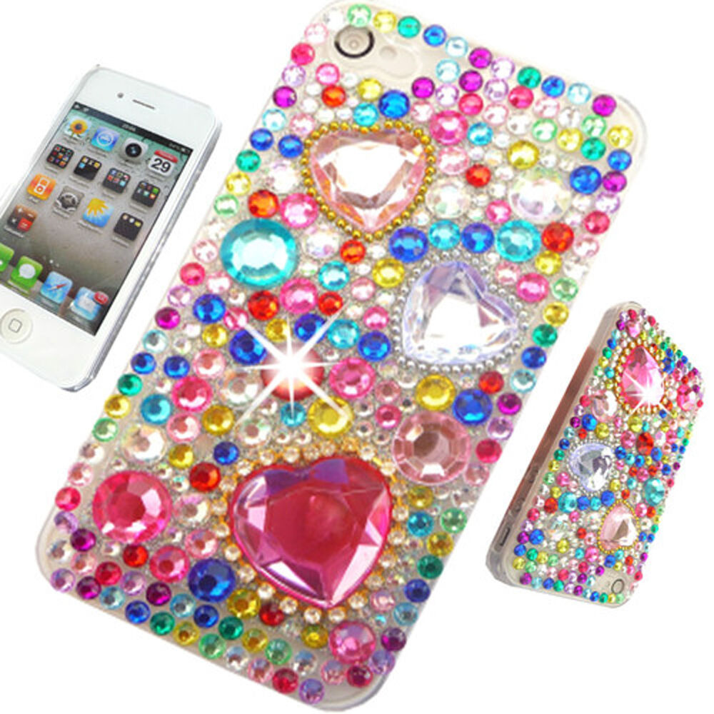 3d cases for iphone 5c new 3d bling cool delux clear diamante cover 4 iphone 8574