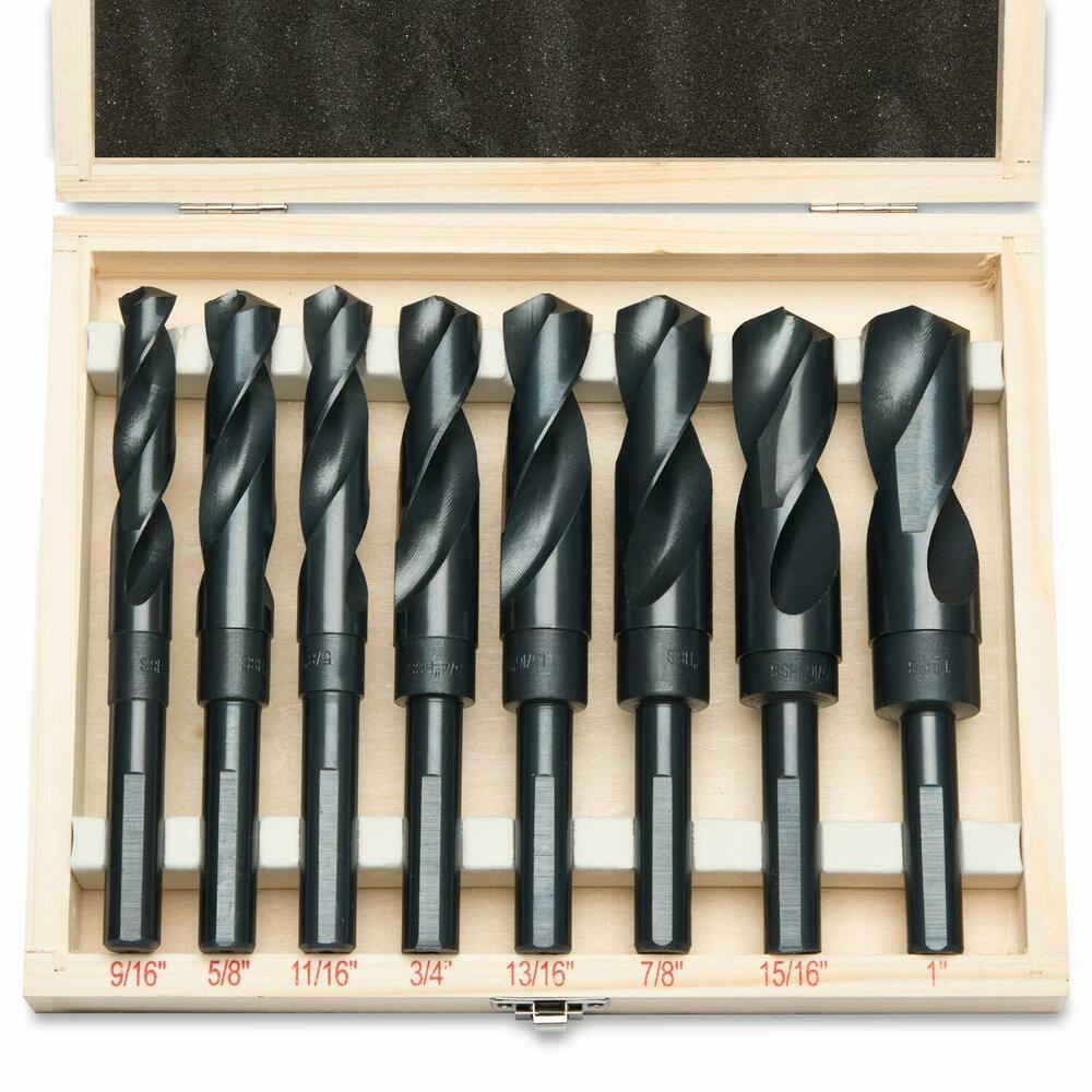 8pc Jumbo Silver Amp Deming Drill Bit Set 1 2 Quot Inch