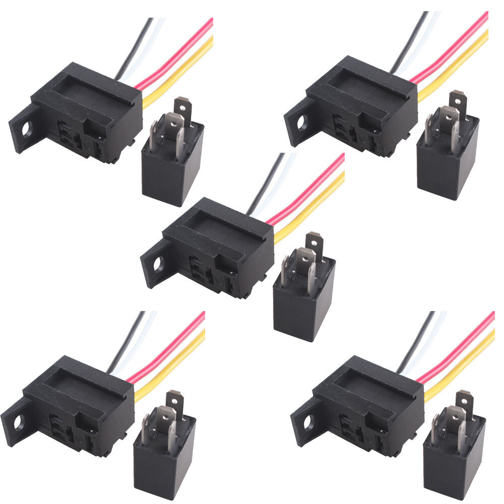 12v Spst Relay Wiring Unlimited Access To Diagram Information Arduino 5 X Car 30a Amp Kit For Fan Fuel Pump Light 120v
