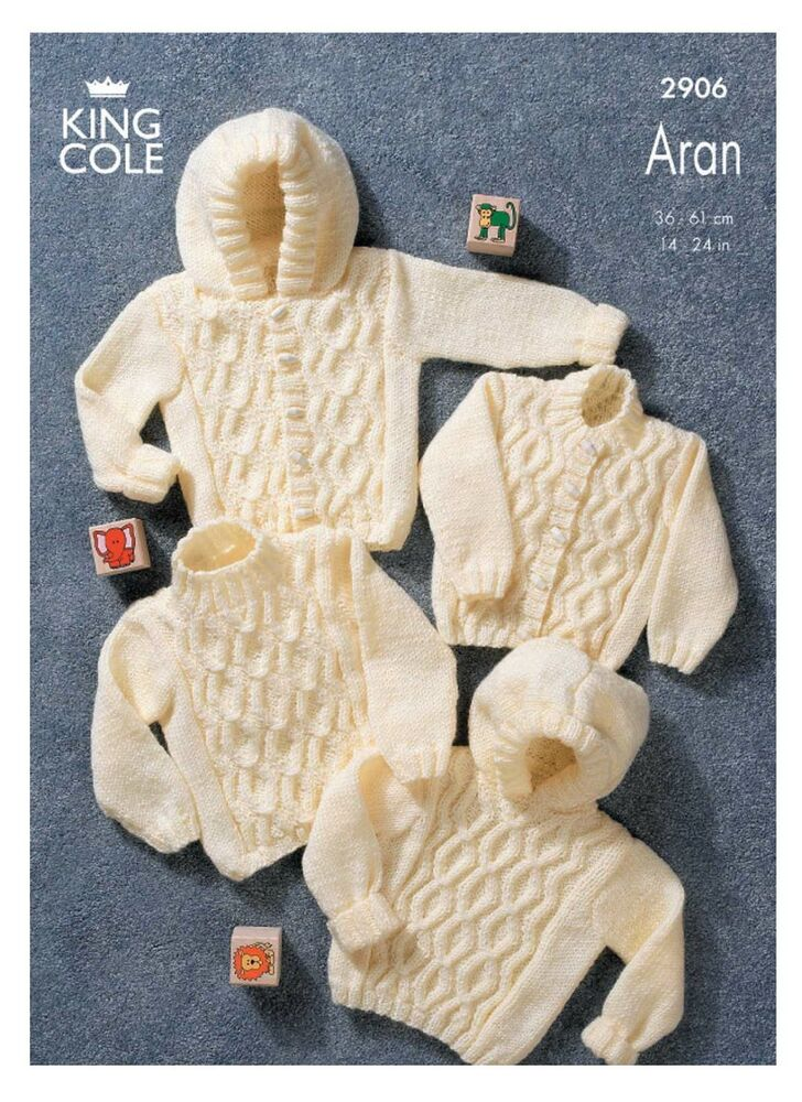 Baby Toddler Aran Knitting Pattern King Cole Cable Knit ...