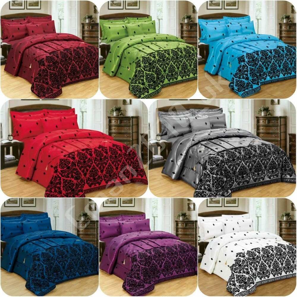 5 pieces bed in a bag bedding duvet cover bed 4pcs - Complete bedroom sets with curtains ...