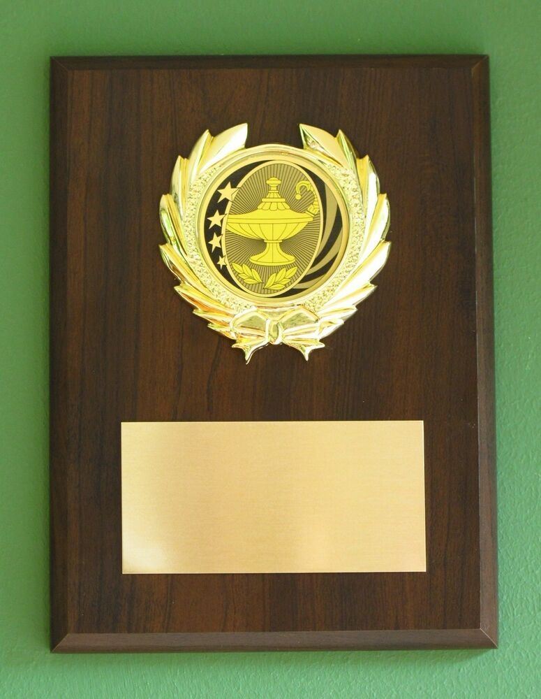 Academic Lamp Of Knowledge Education Award Plaque 6x8