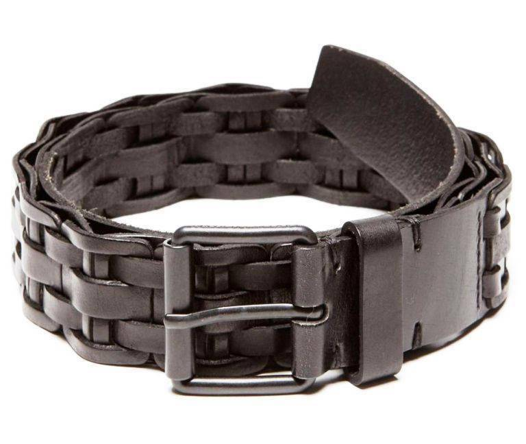 New Armani Exchange Mens Braided Insert Leather Belt g6be132 | eBay