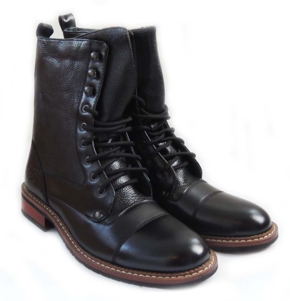 new mens 8 inch high ankle boots combat style