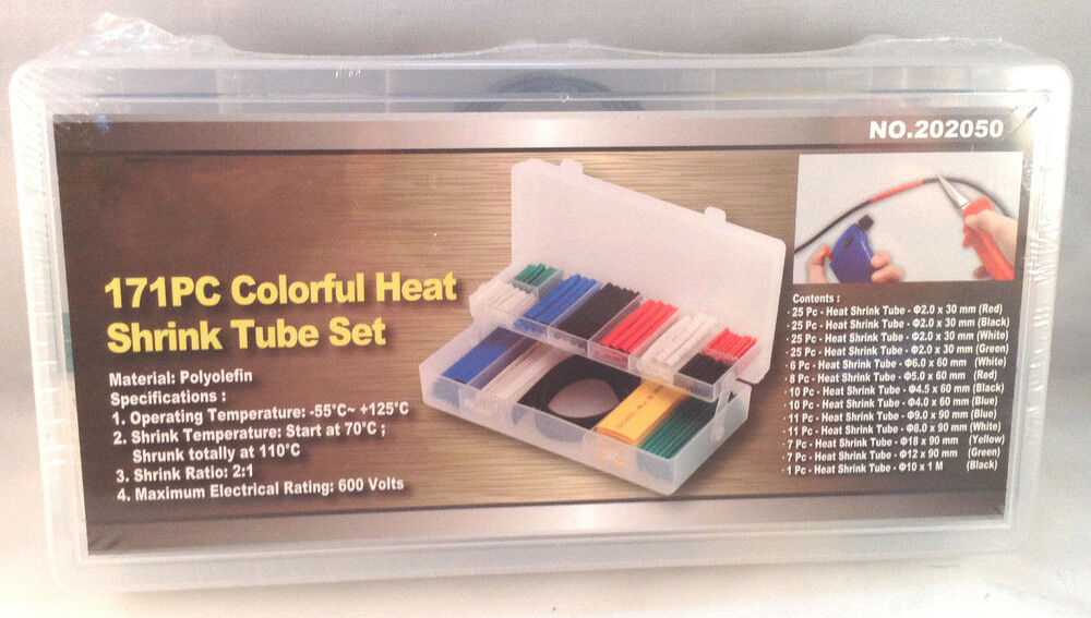 171 Pc Colorful Heat Shrink Tube Set Ebay