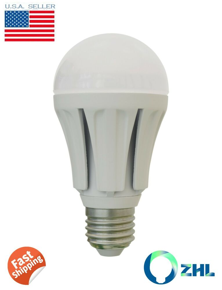 zhl led 10 watt a19 led bulb daylight white 60w incandescent replacement ebay. Black Bedroom Furniture Sets. Home Design Ideas