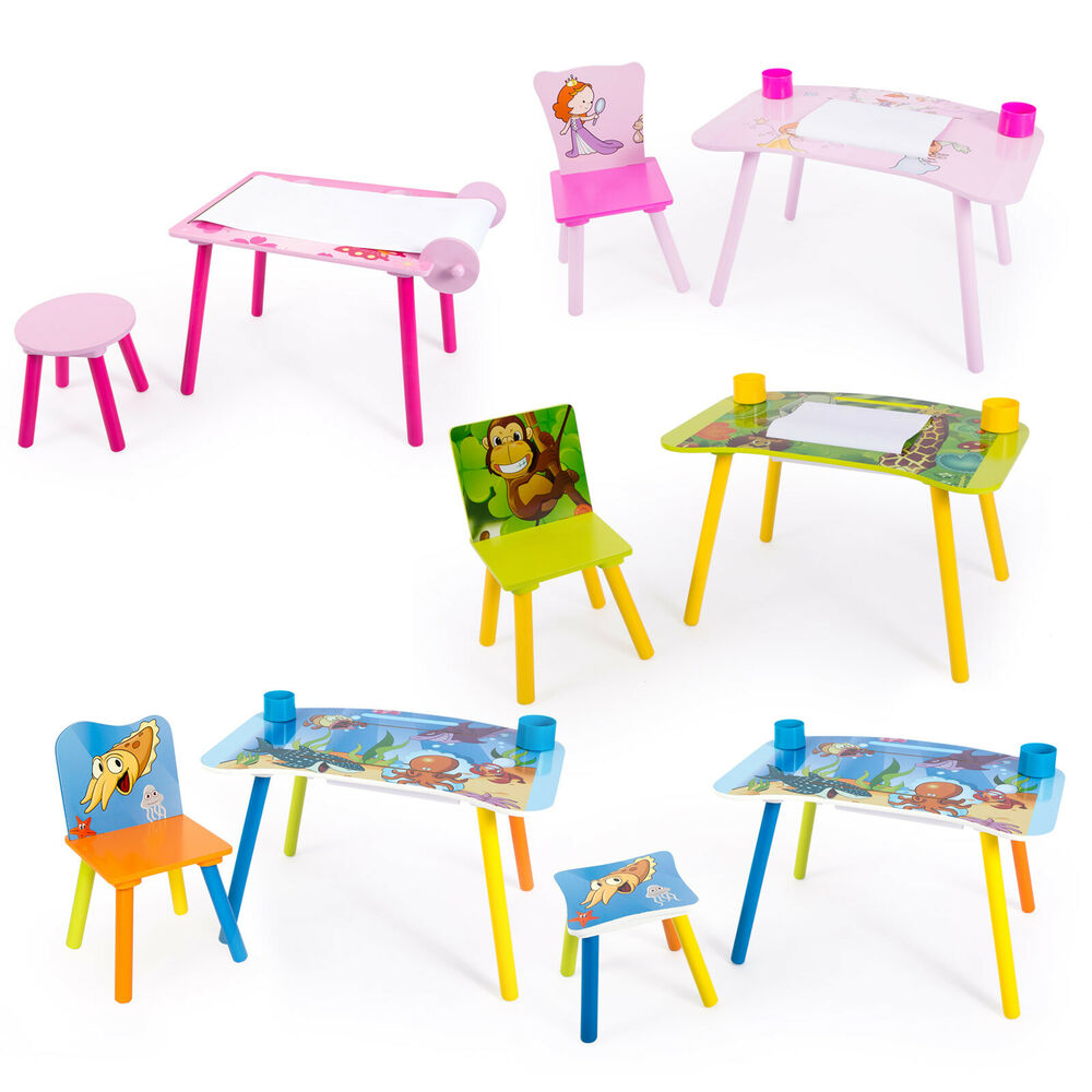 kindermaltisch zeichentisch kinder tisch stuhl spieltisch kindertisch maltisch ebay. Black Bedroom Furniture Sets. Home Design Ideas