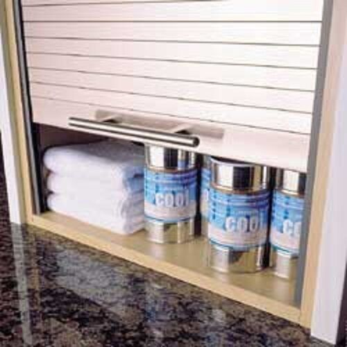 Tambour Door Kit Stainless Steel Effect Wall Units 1210mm