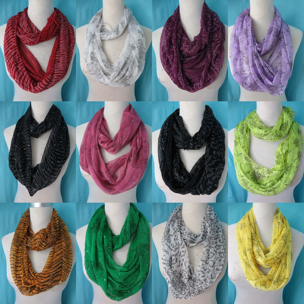 us seller lot of 10 infinity loop scarf wholesale bulk