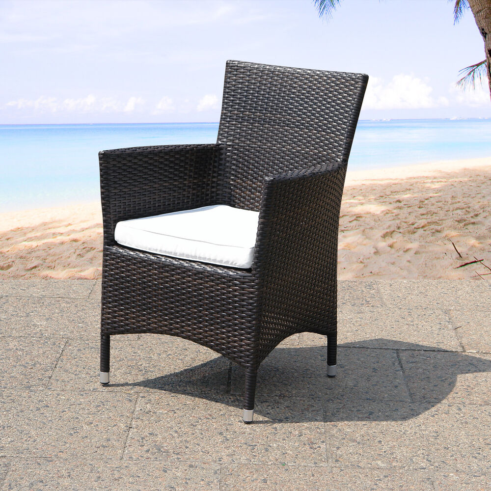dining chair seat cushion patio wicker italy rattan garden comfortable ebay. Black Bedroom Furniture Sets. Home Design Ideas