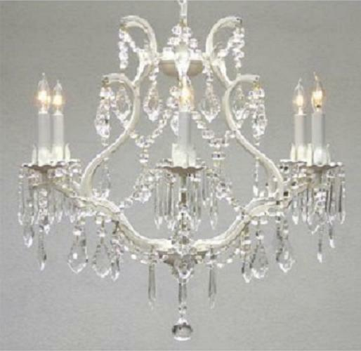 White Wrought Iron Chandelier