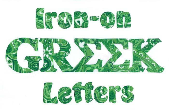Any fraternity sorority all available greek ironon nosew for Sorority sewn on letters