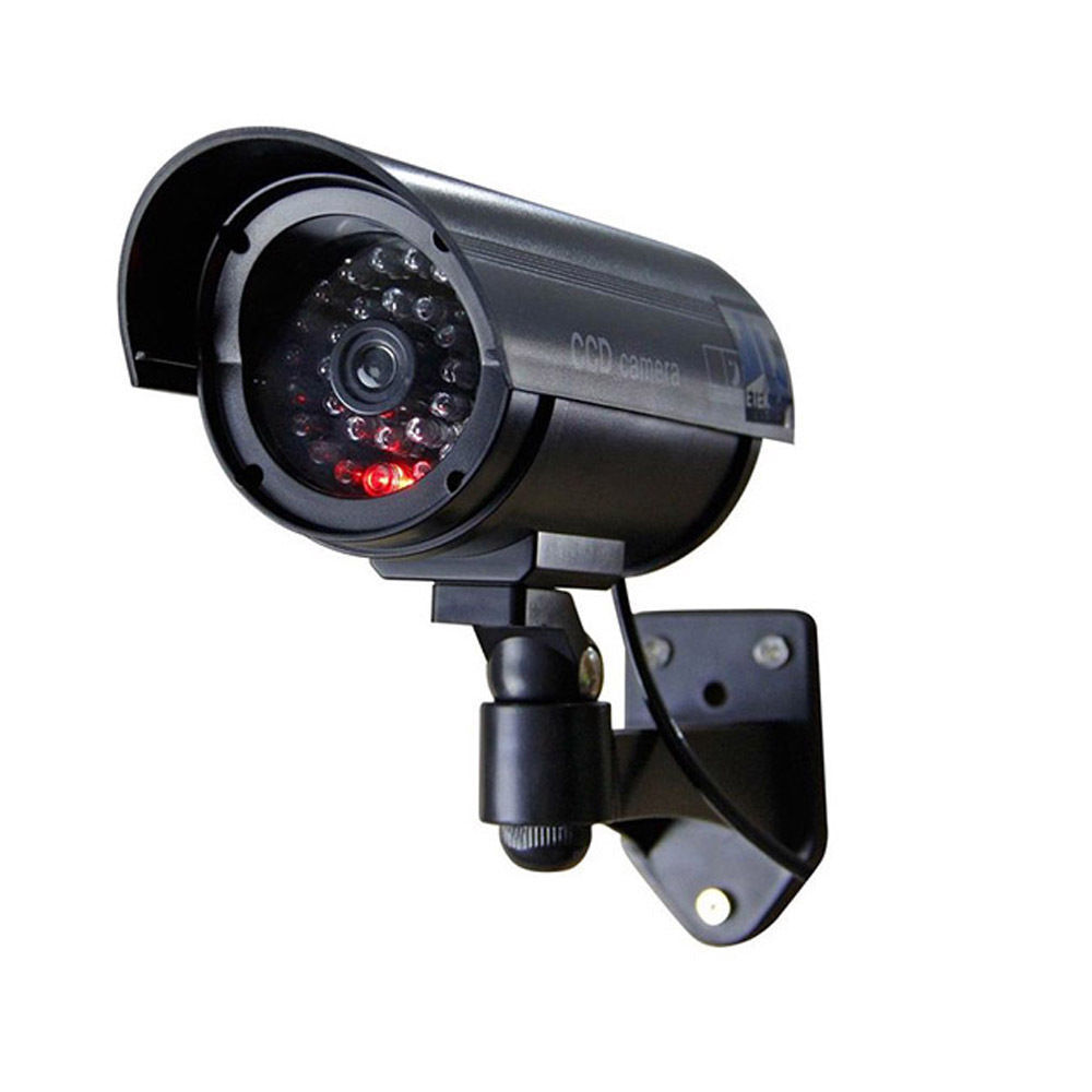 outdoor cctv led light record flashing waterproof fake dummy security. Black Bedroom Furniture Sets. Home Design Ideas