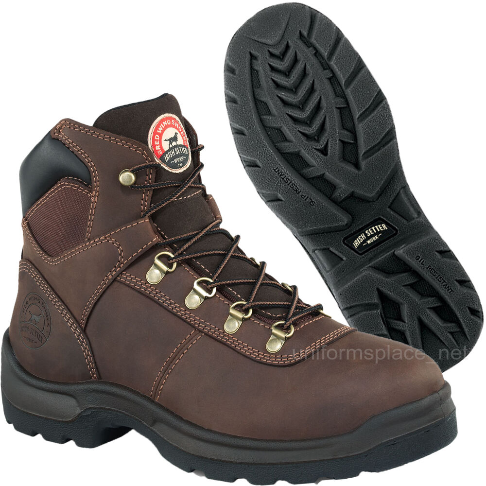 Men's Work Boots Red Wing Irish Setter Waterproof 6