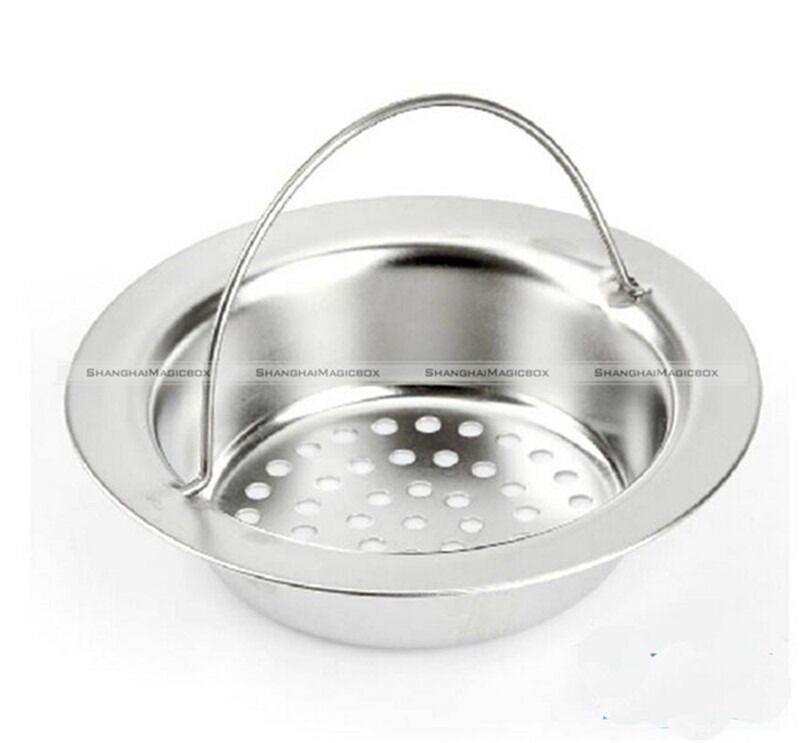 Stainless steel kitchen sink strainer waste plug drain for 2 kitchen sink drain