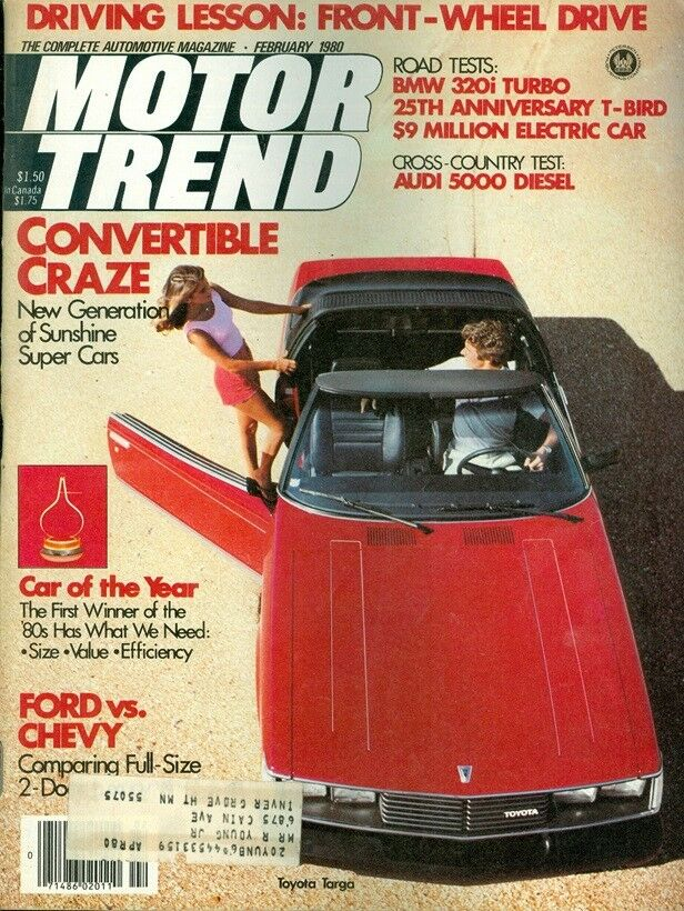 1980 motor trend magazine convertible craze car of the year ford vs chevy ebay. Black Bedroom Furniture Sets. Home Design Ideas