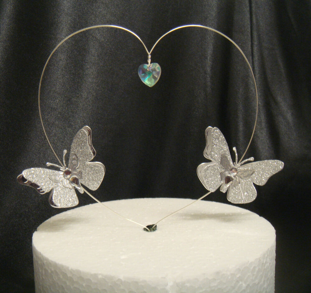 Crystal Butterfly Wedding Cake Toppers