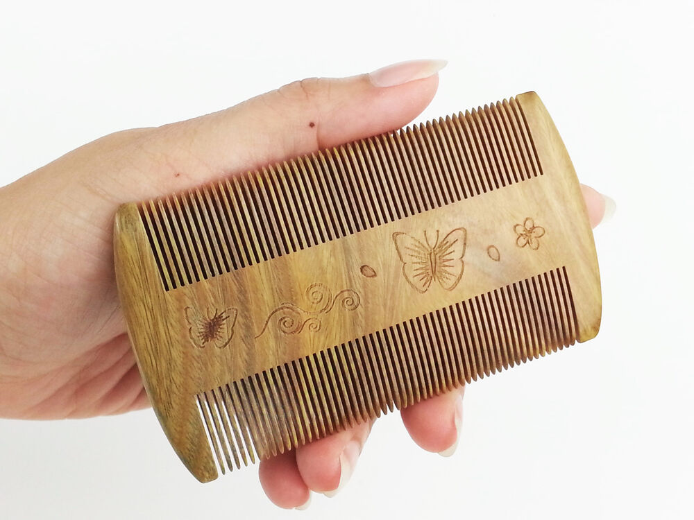 Natural Jade Sandalwood Healthy Hair Comb Fine Tooth