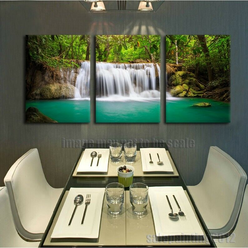 Nature Waterfalls Picture Green Tropical Rainforest Print