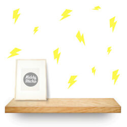 Lightning Bolt Wall Stickers, 2 Sizes, 15 Colours Available, UK seller