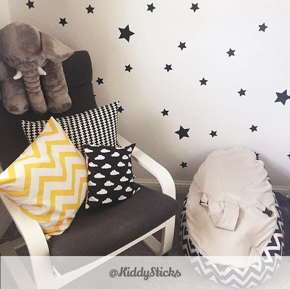 Star wall stickers decals 2 sizes 21 colours for Star wall decals