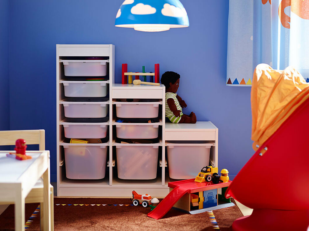 Ikea Storage With Boxes Toy Children Shelf System Frame