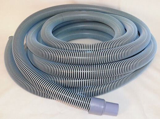 Deluxe pool vacuum vac hose with swivel cuff 25 feet 25 39 by 1 1 2 inch 1 5 ebay for Swimming pool vacuum hose ends