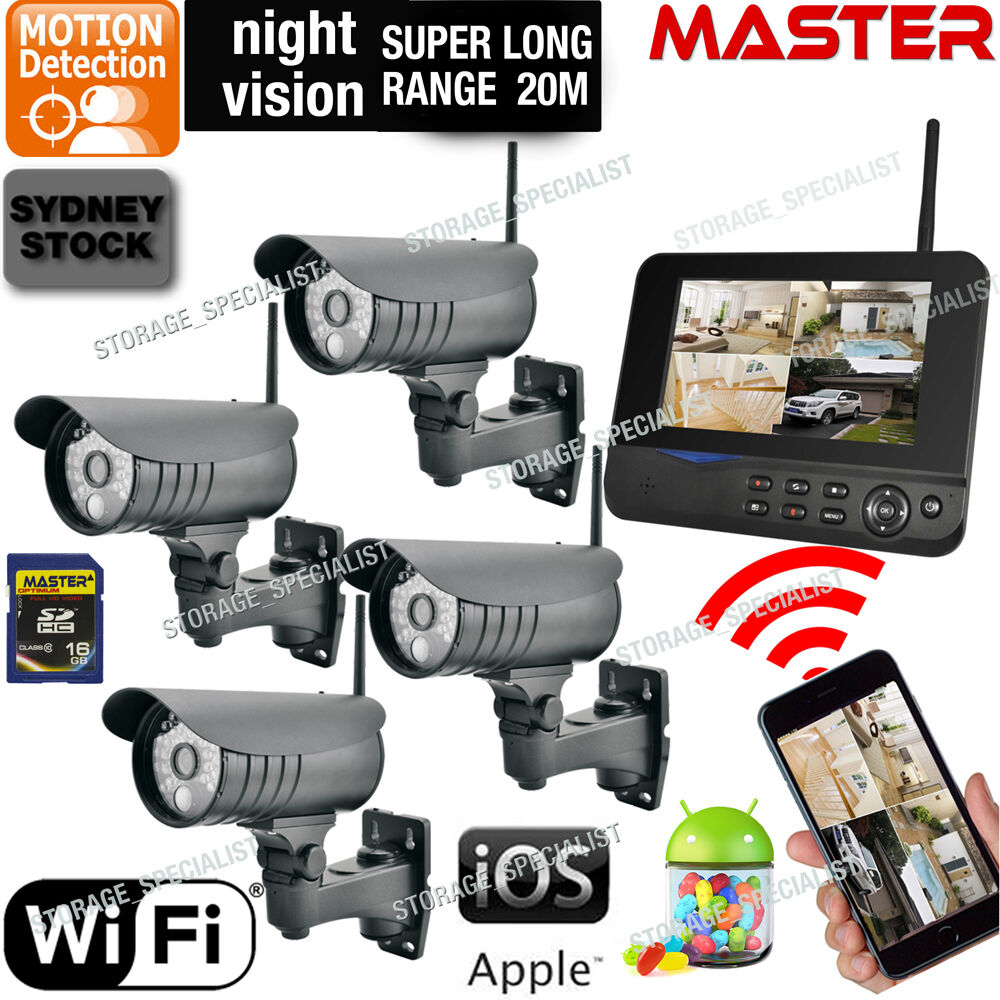 Exterior Home Security Cameras: DIY Outdoor Security Cameras Wireless IP CCTV Home Video