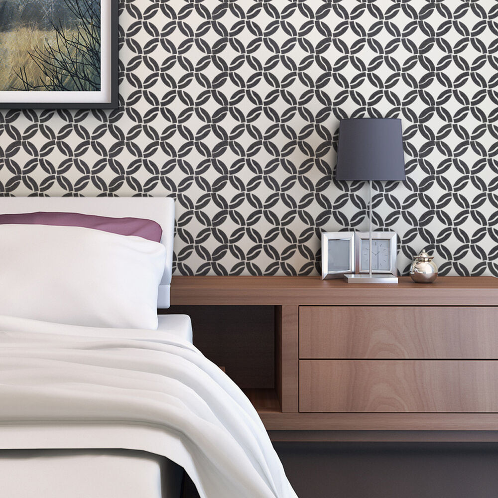 Modern Geometric Wall Stencil Arista, For Easy DIY Home ...