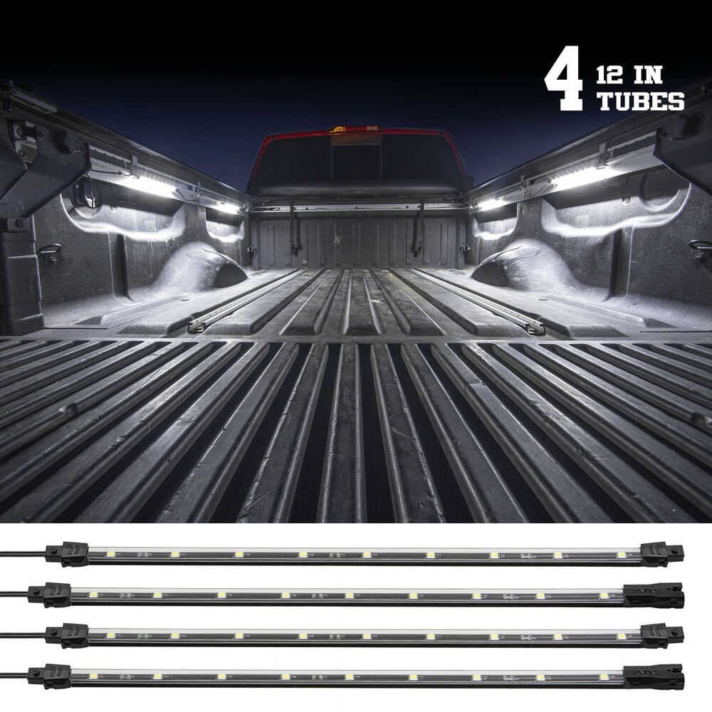 Single Color RED LED 4pcs Truck Bed Tool Box Light Kit 12 ...