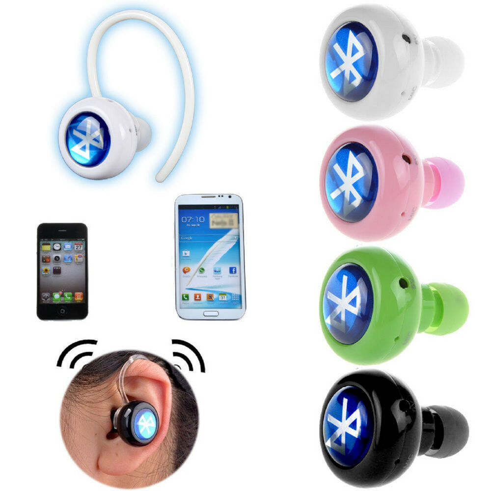 wireless stereo bluetooth earphone headphone for mobile cell phone laptop tablet ebay. Black Bedroom Furniture Sets. Home Design Ideas