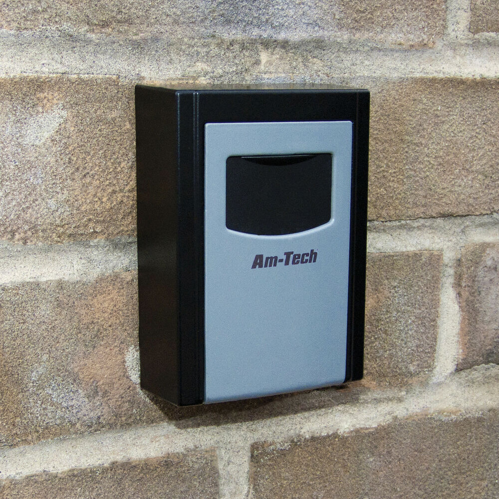 outdoor wall mounted safe key box with lock waterproof cover home car keys ebay