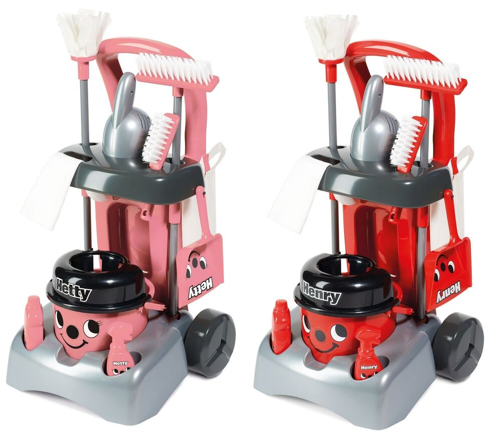 henry hetty deluxe cleaning trolley vacuum cleaner hoover casdon kids fun role ebay. Black Bedroom Furniture Sets. Home Design Ideas