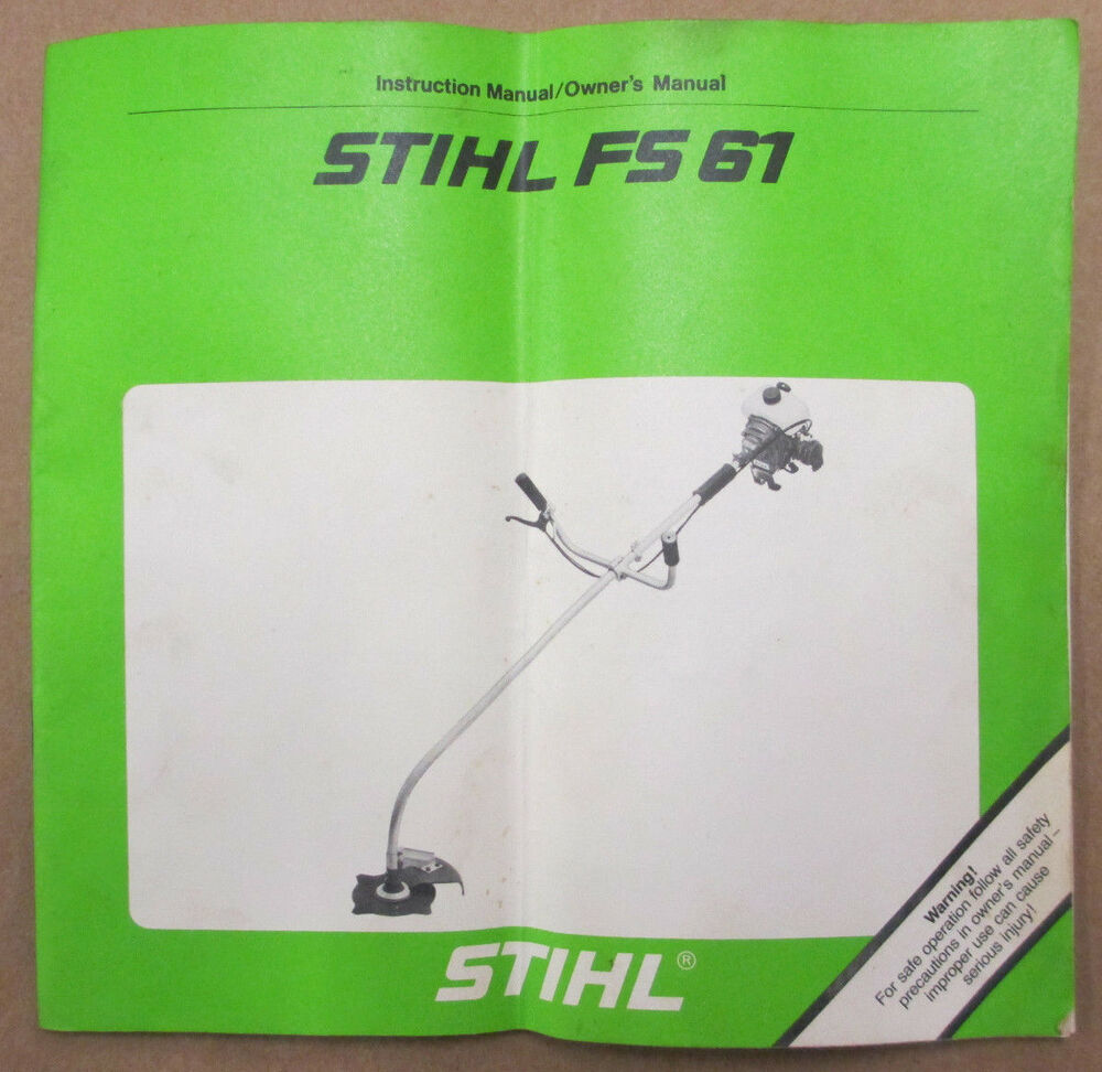 GOOD OEM STIHL FS 61 (4114 ENGINE) TRIMMER BRUSHCUTTER OWNERS OPERATORS  MANUAL | eBay