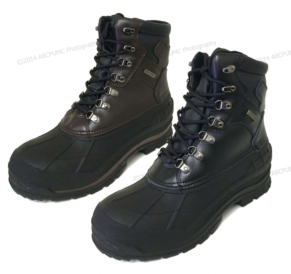 Mens Winter Boots Leather Waterproof Hiking Thermolite ...