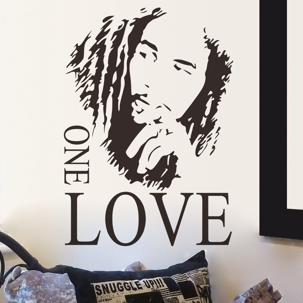 BOB MARLEY One Love Mural Removable Decal Room Wall