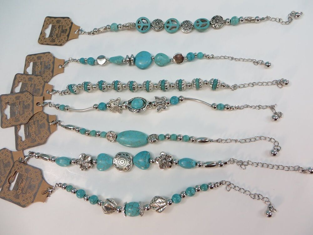 *US Seller*lot of 10 antique vintage style turquoise ...
