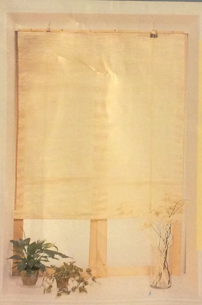 Deluxe Matchstick Roll Up Shade Sun Blind Natural Color 36