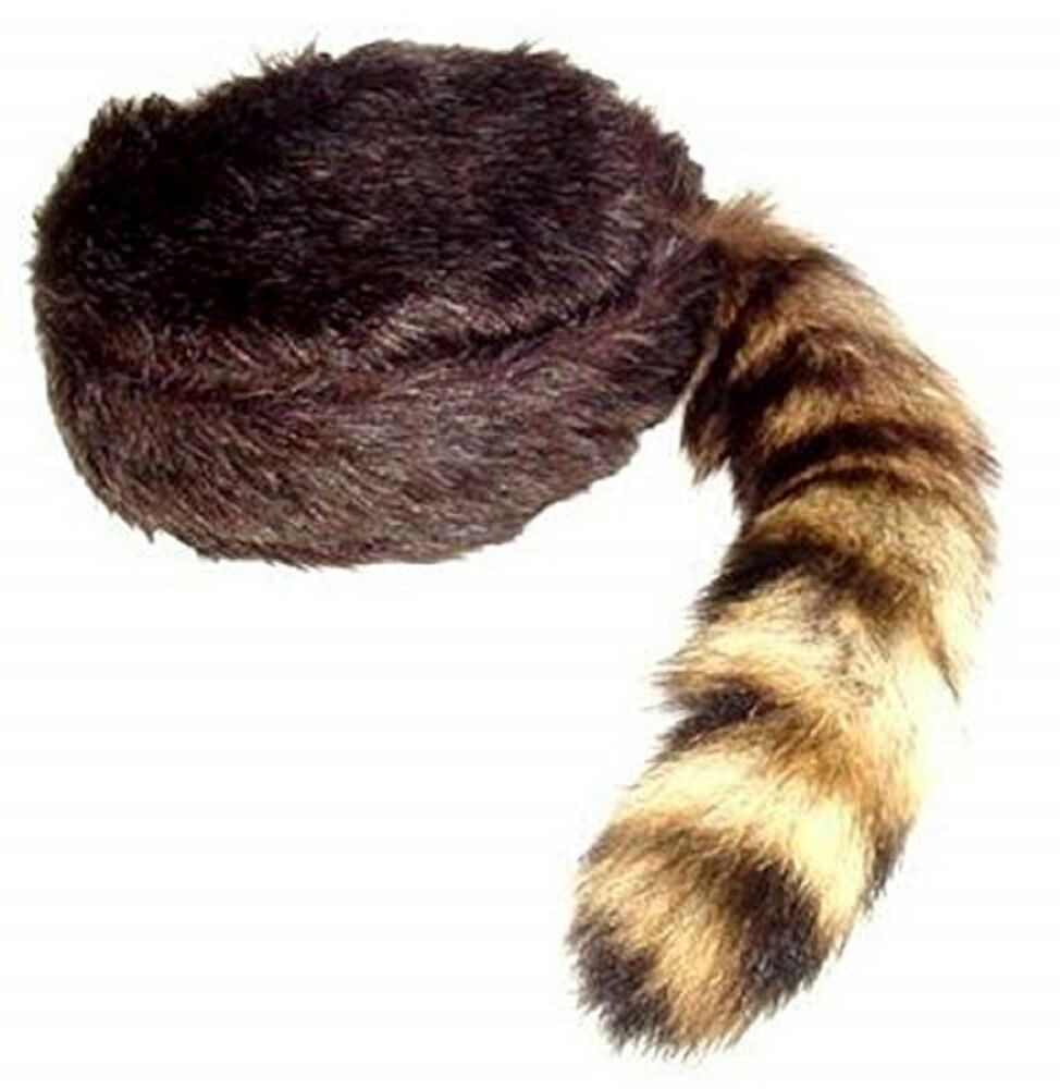 Coonskin Hat: Davy Crockett / Daniel Boon Coon Skin Hat Multi Sizes