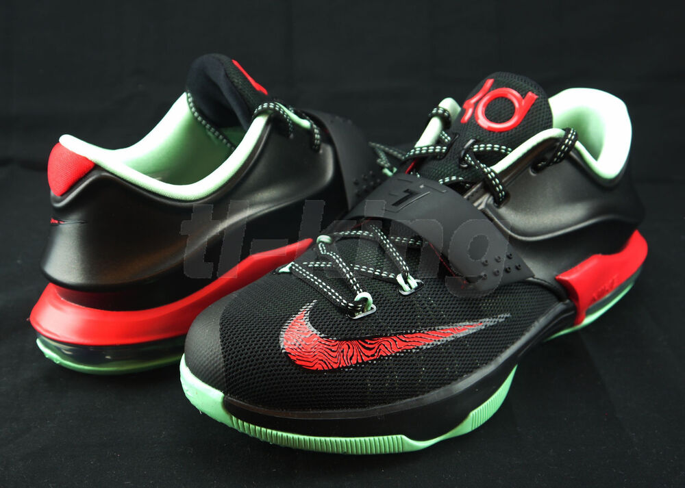 Nike KD 7 VII GS Youth Bad Apple Black Action Red Mint ...
