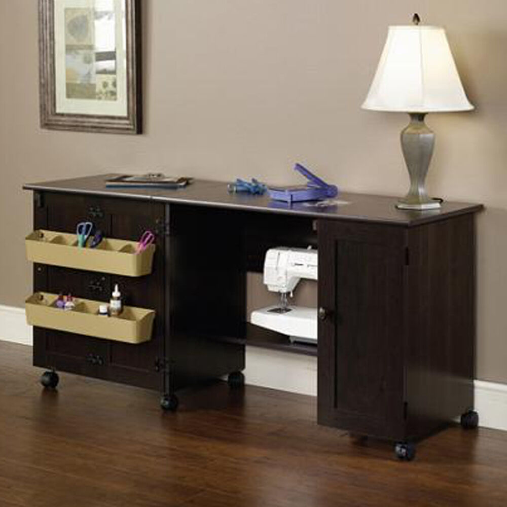 sauder sewing and craft table new sauder sewing amp craft table drop leaf shelves storage 7112