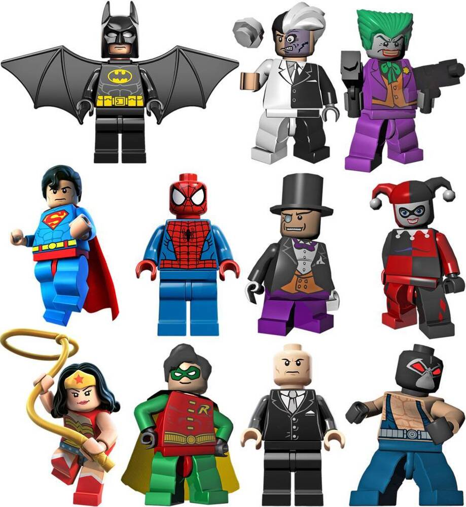 LEGO BATMAN 11 CHARACTERS Decal Removable WALL STICKER ...
