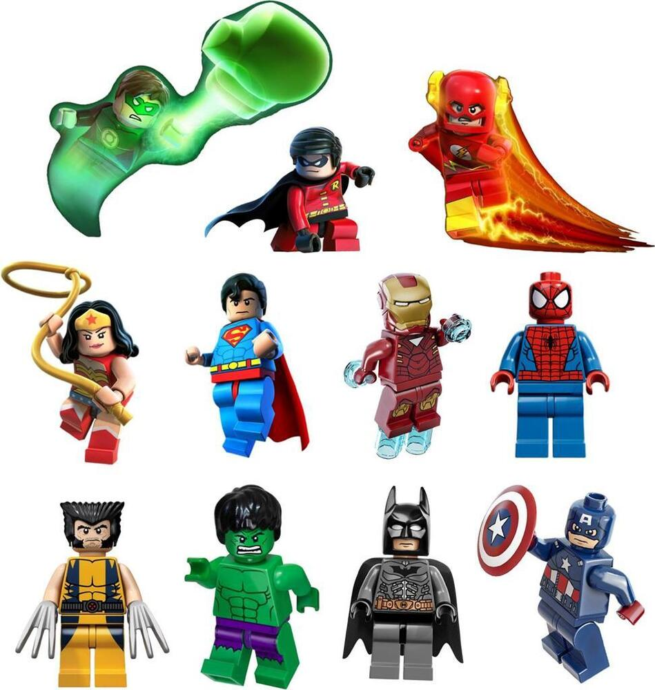 Lego superhero wall decals custom vinyl decals lego marvel super heroes decal removable wall sticker decor art batman hulk dc ebay amipublicfo Images