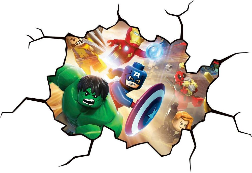 Lego Dc Super Heroes Cracked Wall Or Window Effect Decal