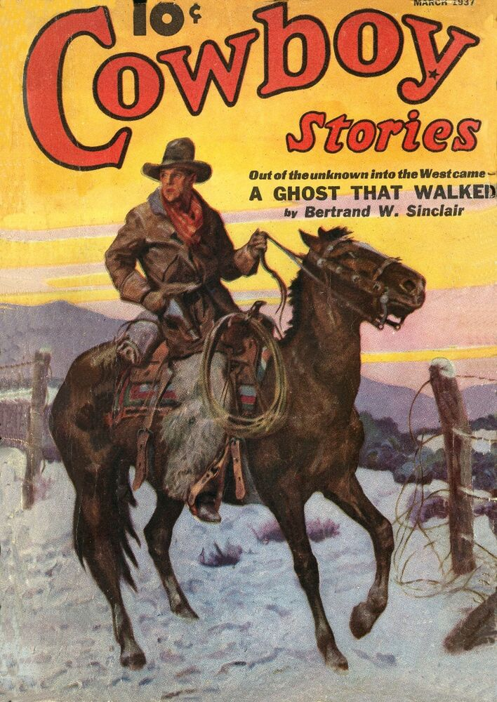 Western Book Cover Art : Cowboy stories vintage western comic book cover