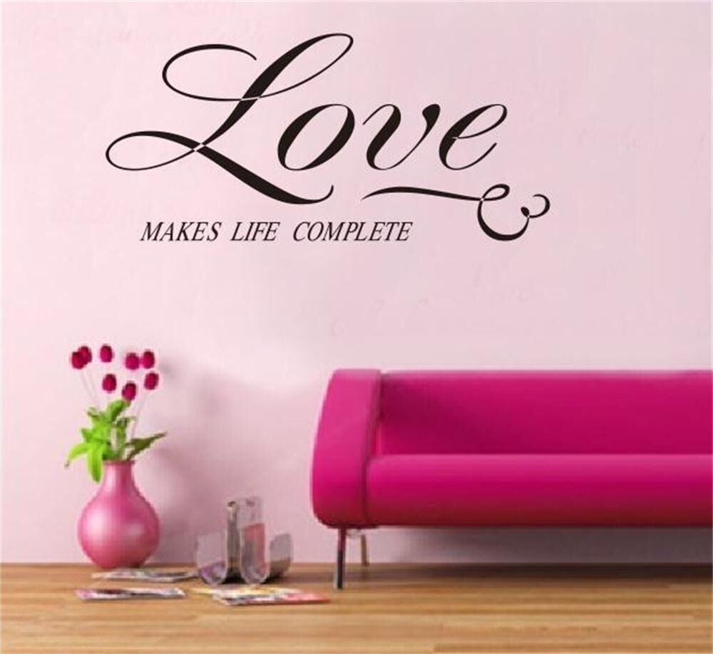 LOVE Quote Wall Art Vinyl Decal Home Room Decor Removable