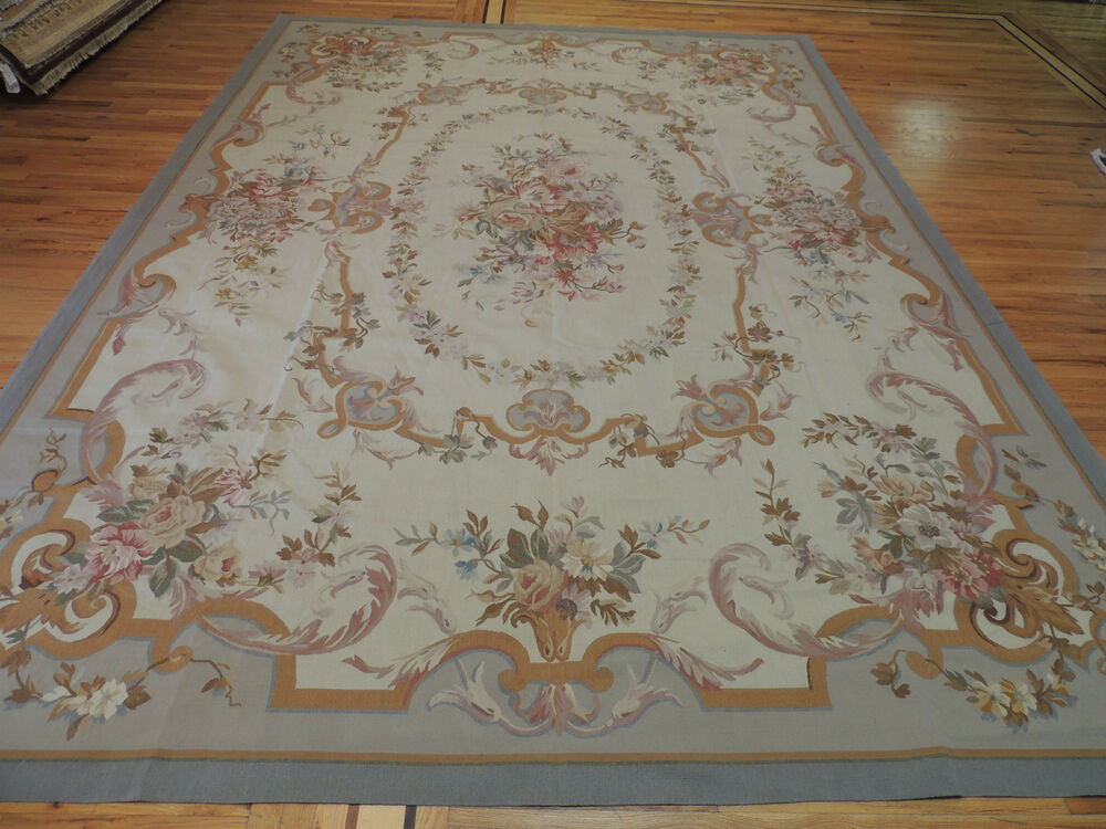 Lovely Large French Aubusson Design Oriental Area Rug