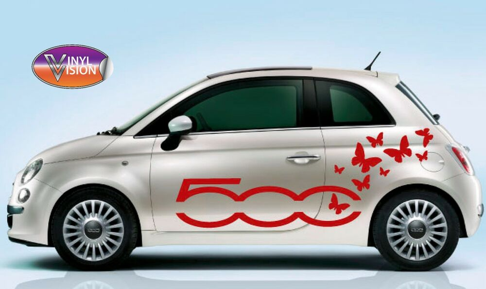 fiat 500 500c butterfly vinyl stickers decals graphics car adhesive ebay. Black Bedroom Furniture Sets. Home Design Ideas