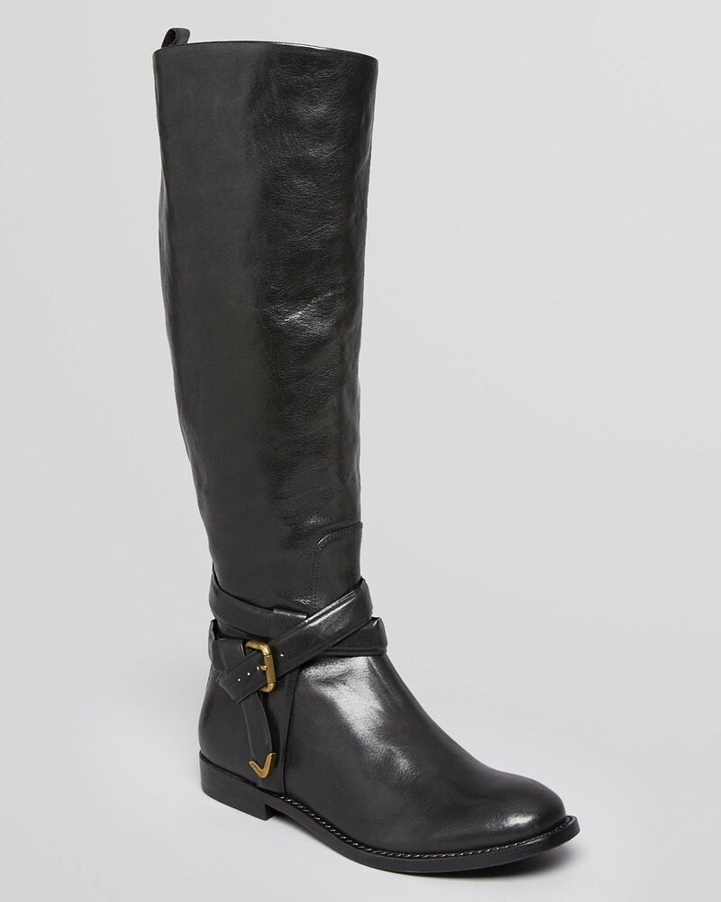 550 aerin knee high shaft boots meudon buckle wide